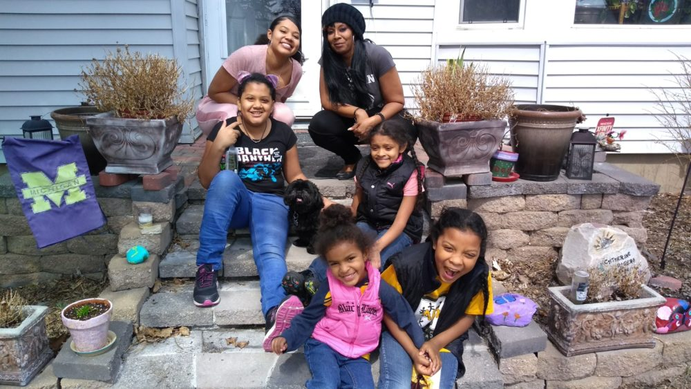 Jessica Gutierrez and her five daughters. (Courtesy)
