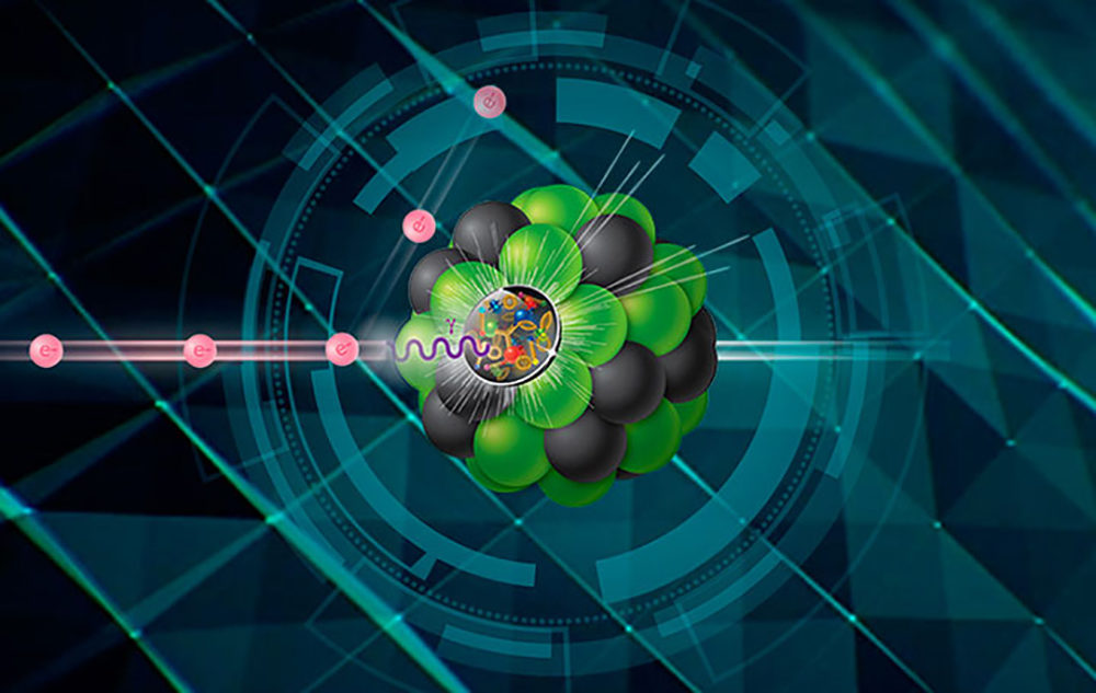 """Electrons will collide with protons or larger atomic nuclei at the Electron-Ion Collider to produce dynamic 3-D snapshots of the building blocks of all visible matter,"" according to the U.S. Department of Energy. (Courtesy of Brookhaven National Laboratory/DOE)"