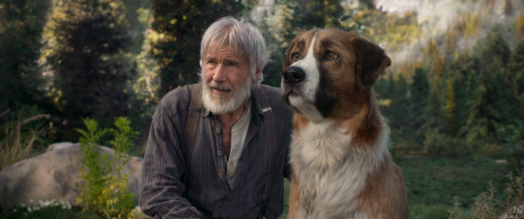 "Harrison Ford as John Thornton with Buck in ""Call of the Wild."" (Courtesy Twentieth Century Fox)"