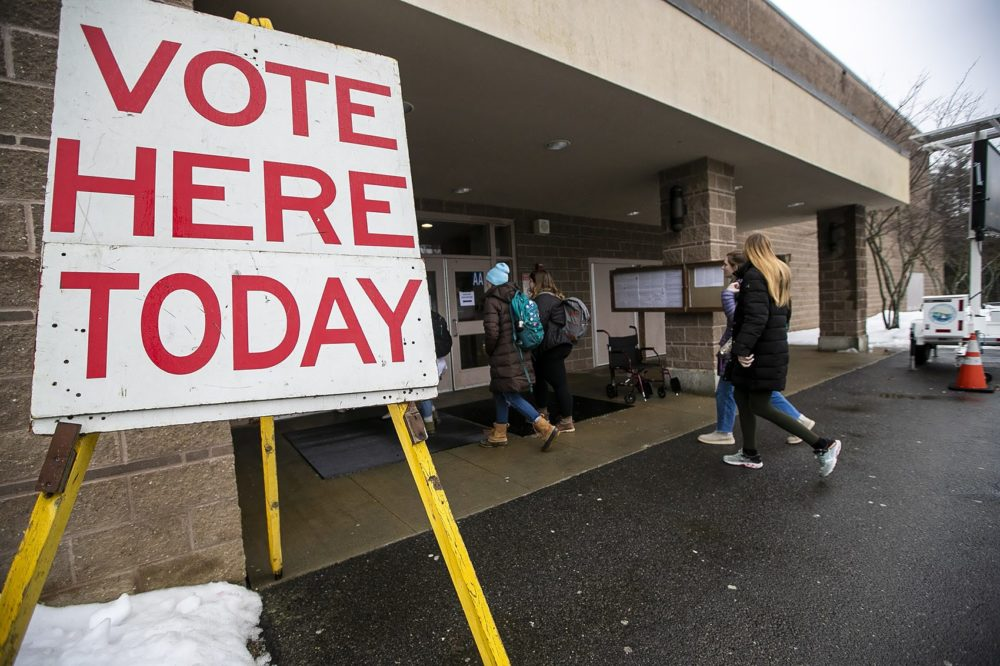 A polling place in New Hampshire. (Jesse Costa/WBUR