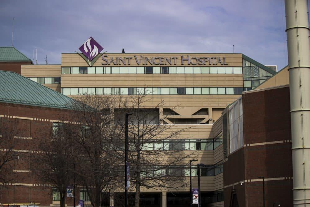 St. Vincent Hospital in Worcester. (Jesse Costa/WBUR)