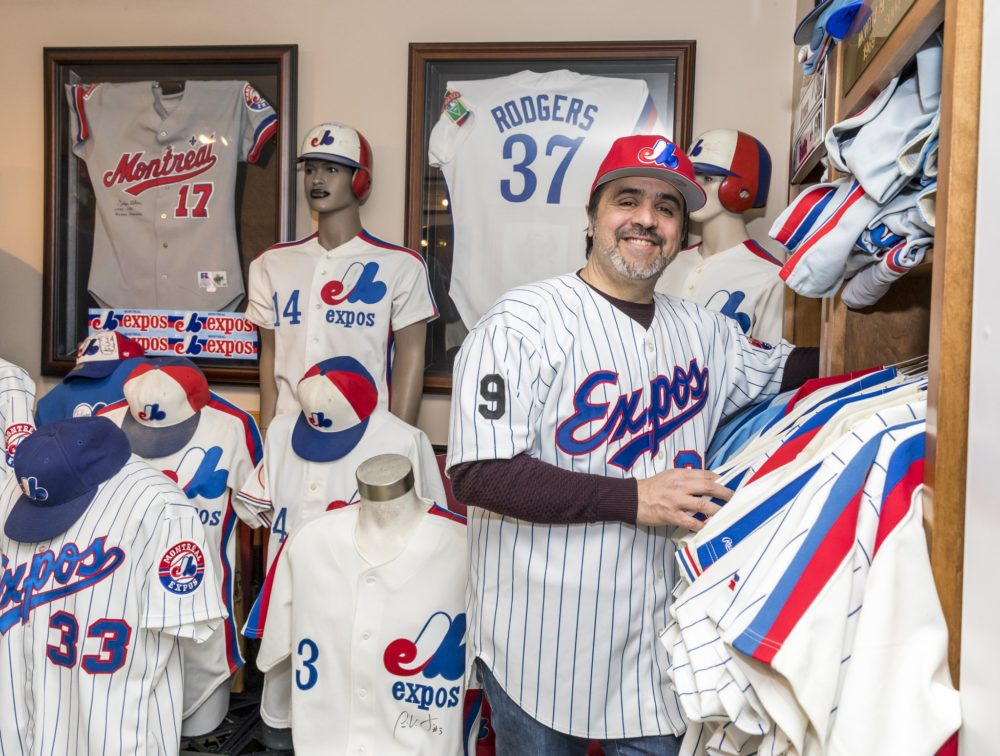 Perry Giannias has the world's biggest private collection of Montreal Expos' memorabilia. (Eva Blue)