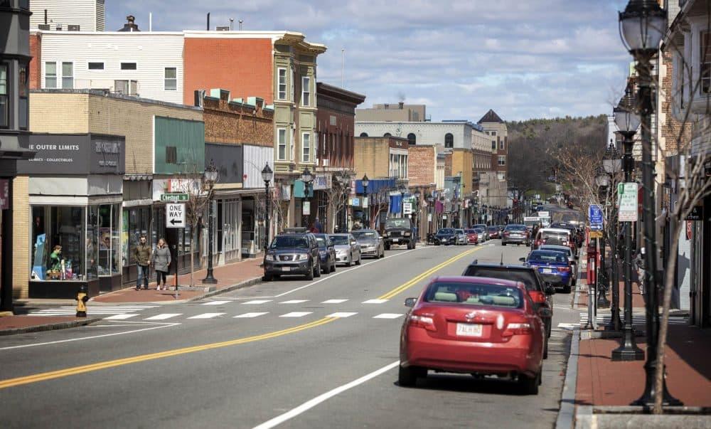 Moody Street, Waltham, Mass. (Robin Lubbock/WBUR)