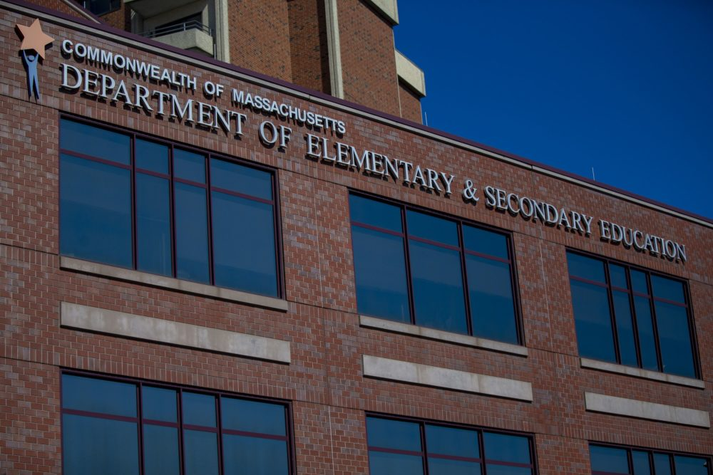The Massachusetts Department of Elementary and Secondary Education in Malden. (Jesse Costa/WBUR)