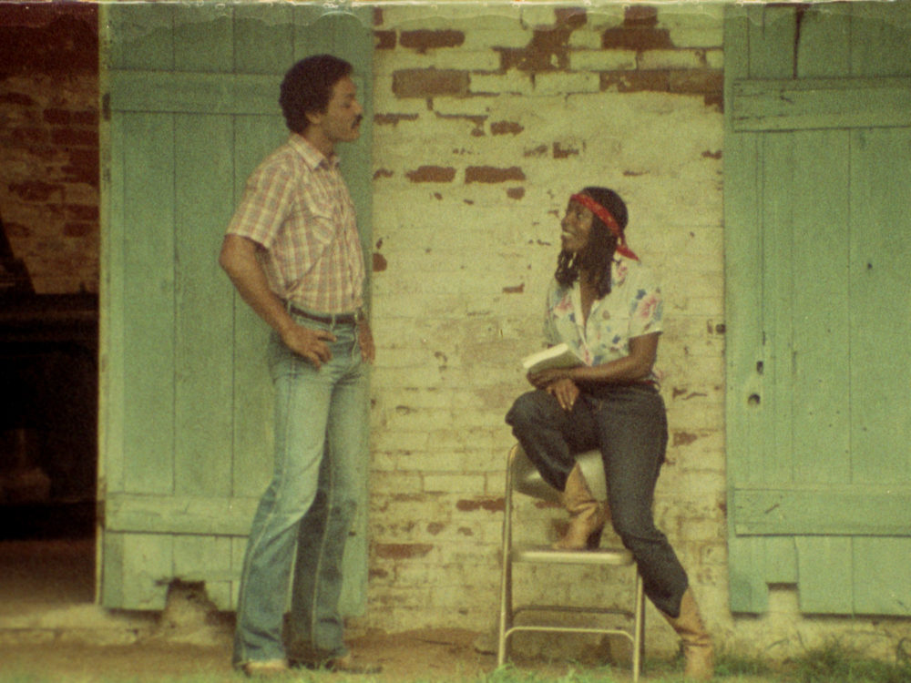 "Richard Romain (left) and 	Tommye Myrick in ""Cane River."" (Courtesy Oscilloscope Films)"