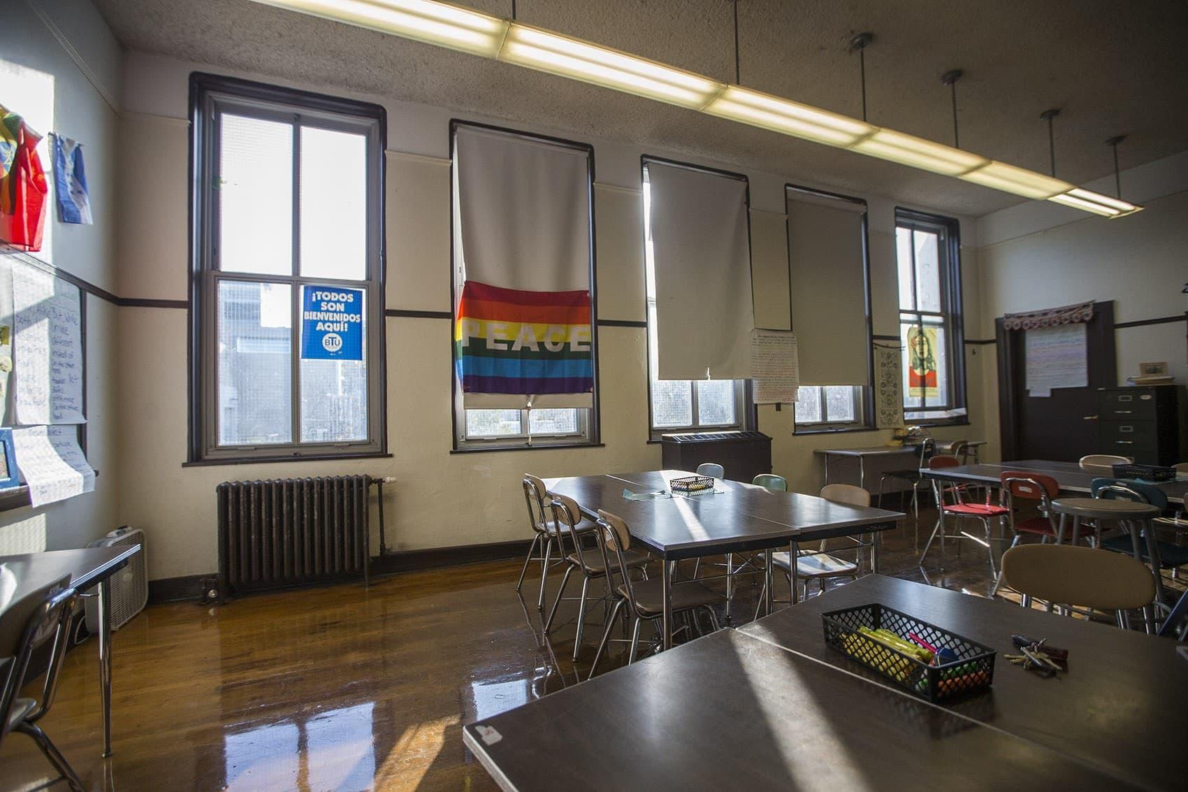 A classroom in Boston. (Jesse Costa/WBUR)
