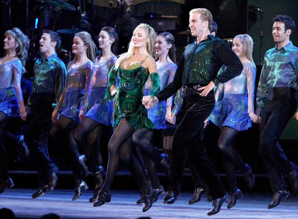 """New York Times dance critic Siobhan Burke discusses why the mere sight of a """"Riverdance"""" billboard provokes mixed feelings. (Adam Rountree/AP)"""