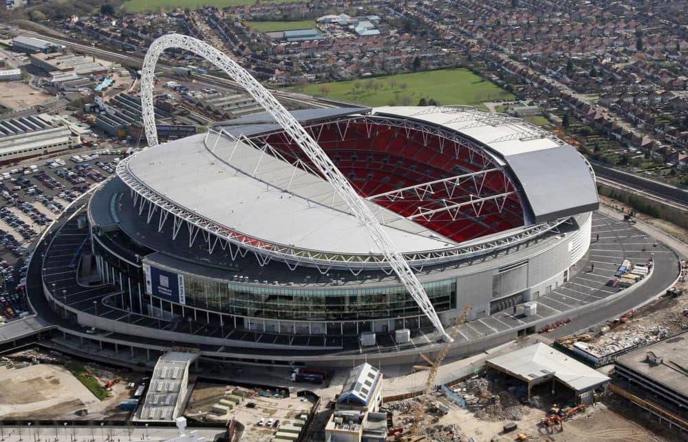 Wembley Stadium. No lasagna.  (Lewis Whyld/AP)