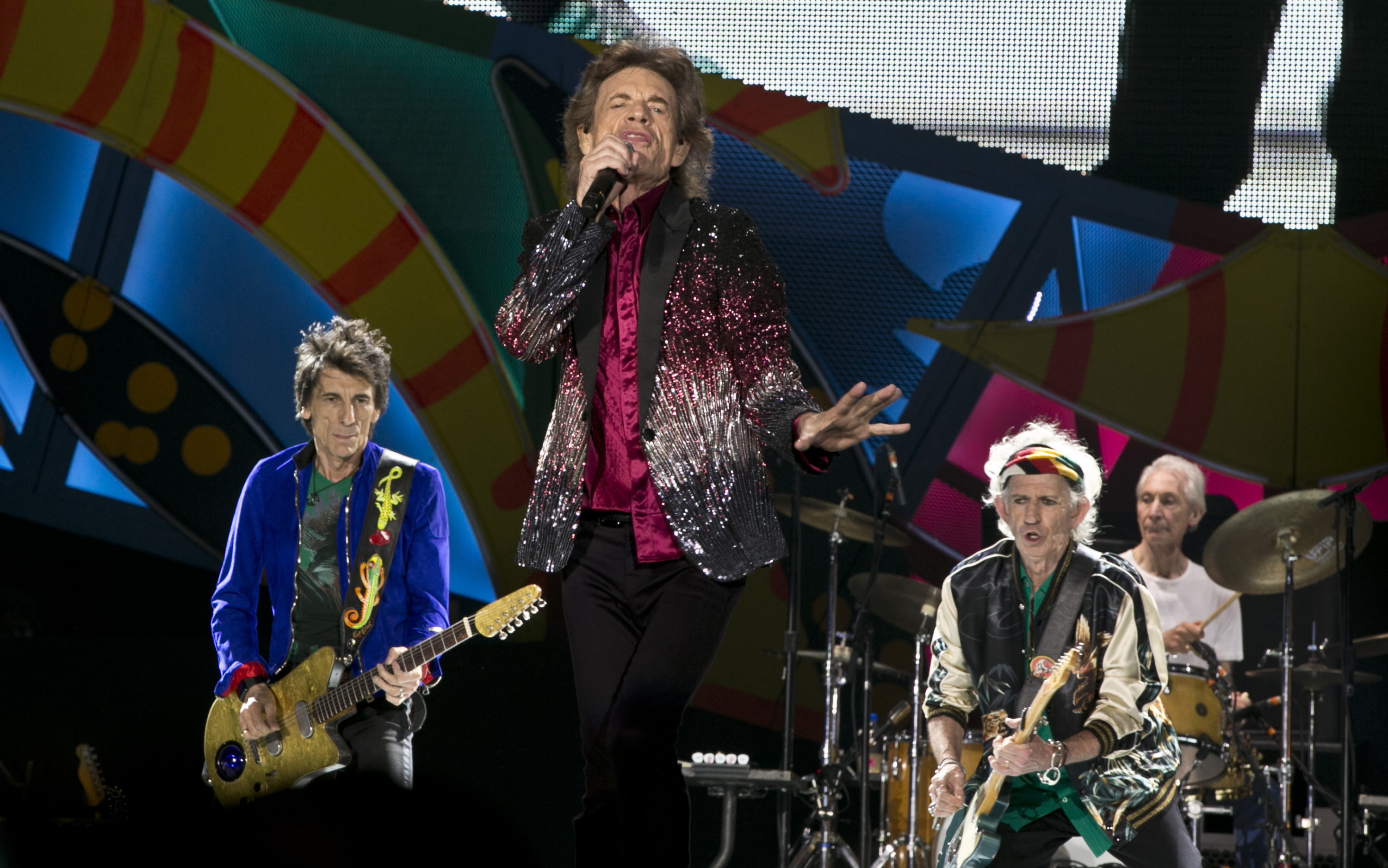 In this March 25, 2016 file photo, The Rolling Stones perform in Havana, Cuba. (Enric Marti/AP)