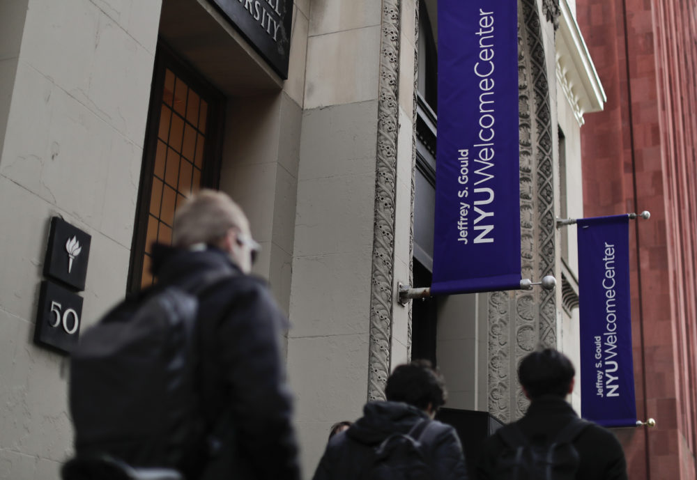 New York University sent a letter to its students this week saying they need to return from Spring Break to move out of their dorms immediately. (Julie Jacobson/AP)