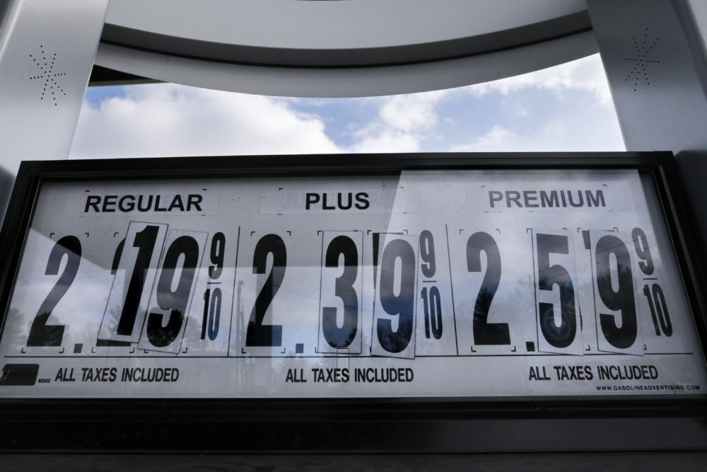 A bill passed by Massachusetts House lawmakers Wednesday would increase the state's 24-cents-per-gallon gasoline and diesel taxes would increase by 5 cents and 9 cents, respectively. (Charles Krupa/AP)