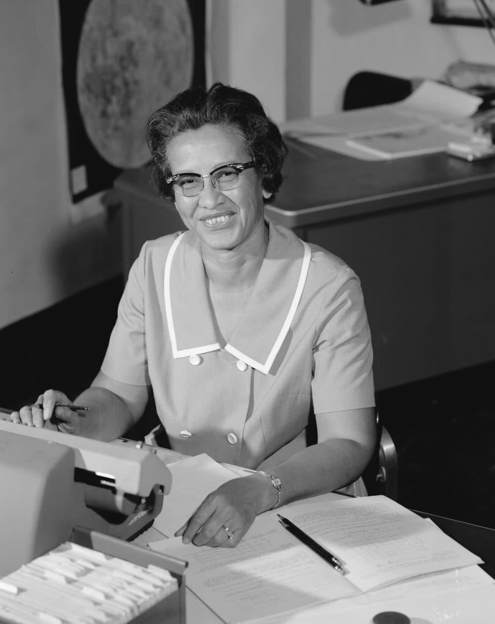 NASA mathematician Katherine Johnson is seen in 1966. (NASA via AP)
