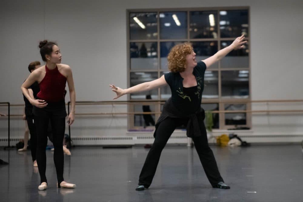 Dancer Seo Hye Han and choreographer Helen Pickett. (Courtesy Brooke Trisolini/Boston Ballet)