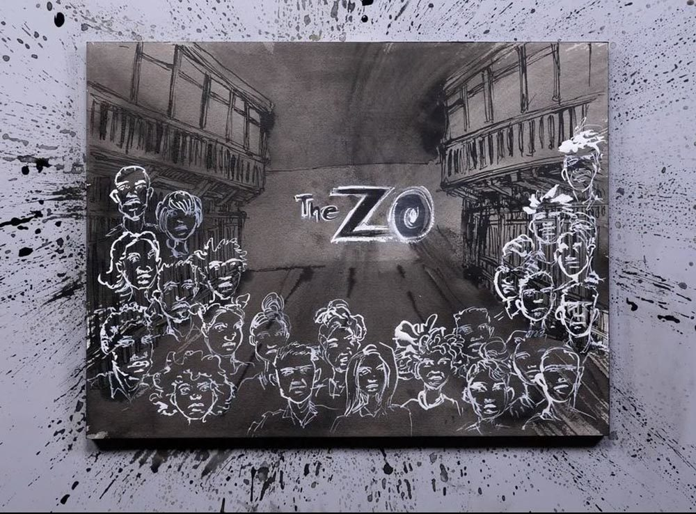 Screenshot of the opening title of 'The Zo,' with illustrations by Molly Crabapple. (The Marshall Project/Molly Crabapple)