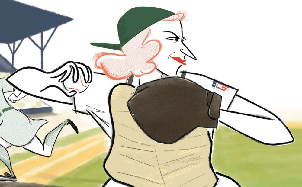 "An image from Anika Orrock's ""The Incredible Women of the All-American Girls Professional Baseball League,"" which came out on Tuesday. (Courtesy of Chronicle Books)"