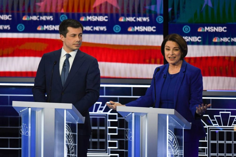 Sen. Amy Klobuchar has seven delegates and Pete Buttigieg has 26. (Mark Ralston/AFP/Getty Images)