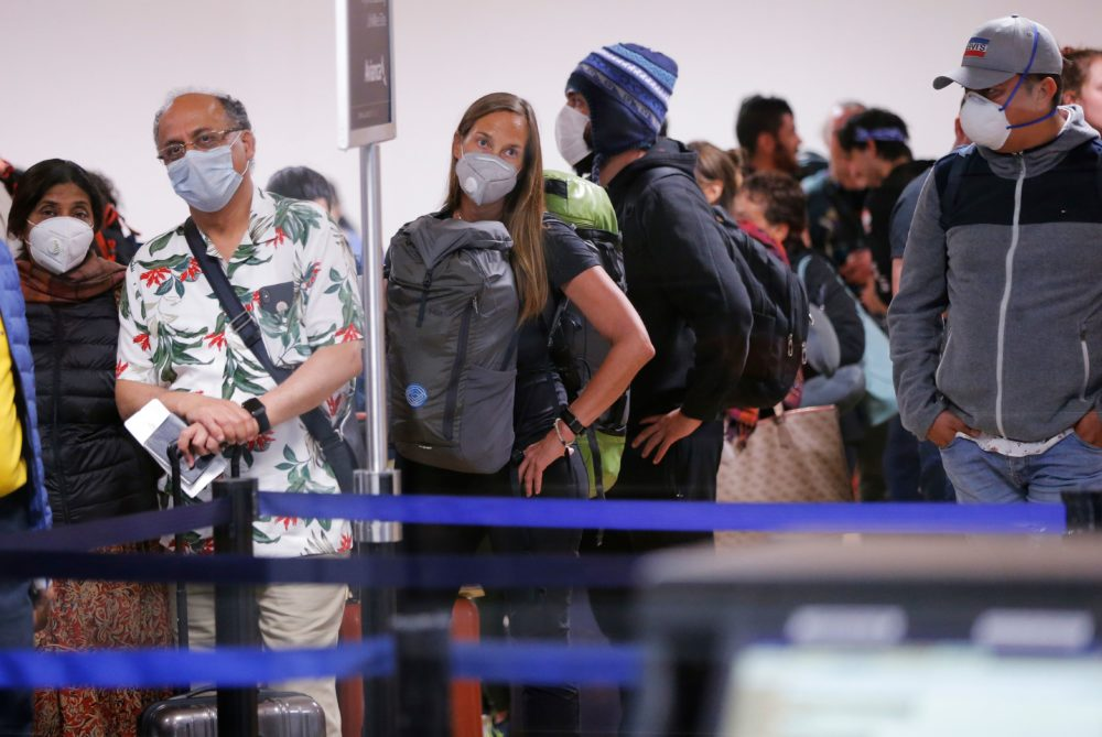 Scores of Americans are trapped in various countries around the world as borders shut and air travel halts in an attempt to prevent the spread of COVID-19. (Luka Gonzales/AFP via Getty Images)
