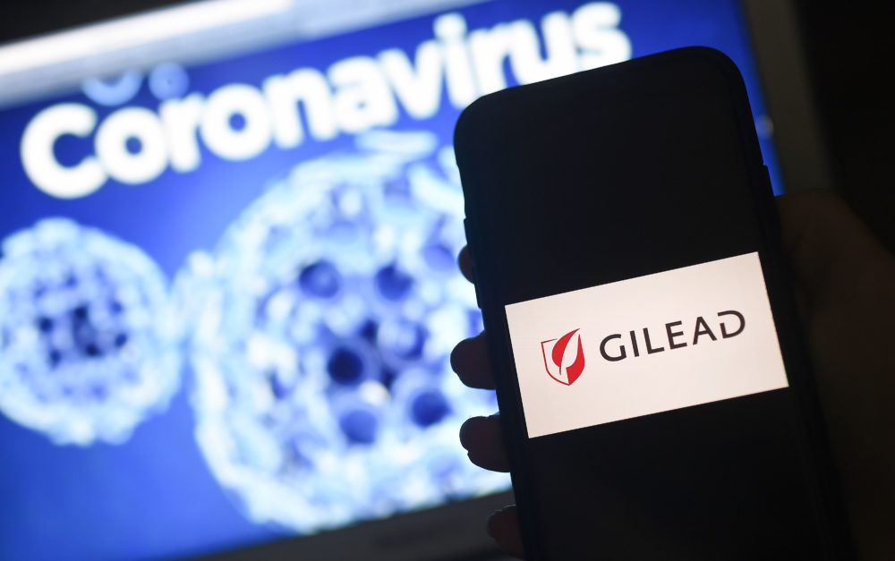 Gilead makes remdesivir, an antiviral drug that shows promise in treating COVID-19, the disease caused by the new coronavirus. (Olivier Douliery/AFP via Getty Images)