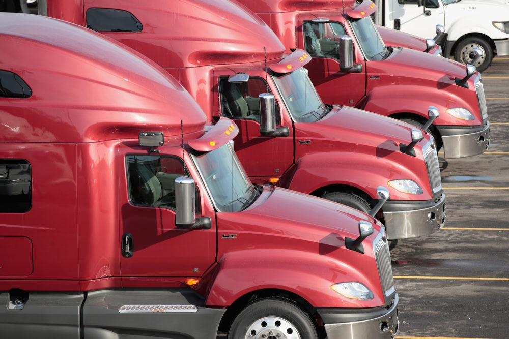 Truckers are facing new challenges on the road as demand for basic goods spikes amid the coronavirus pandemic. (Scott Olson/Getty Images)