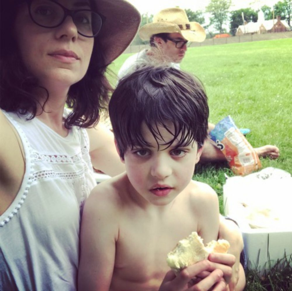 The author and her son, Finn, in 2017, a few months before his 10th birthday, in Cambridge, Mass. (Courtesy)