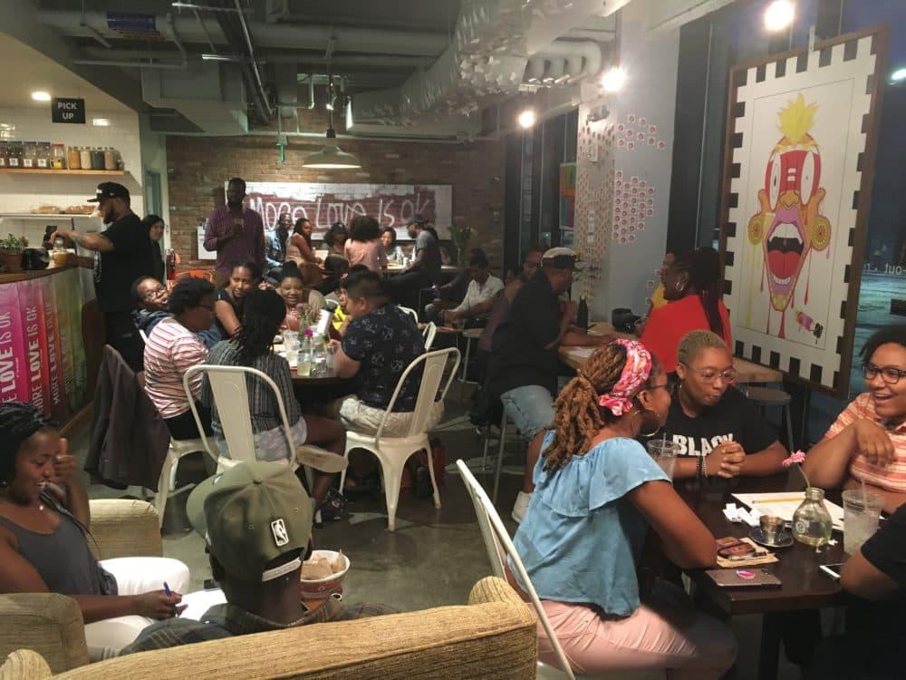Participants at Hella Black Trivia night at Dudley Cafe in Roxbury. (Courtesy)