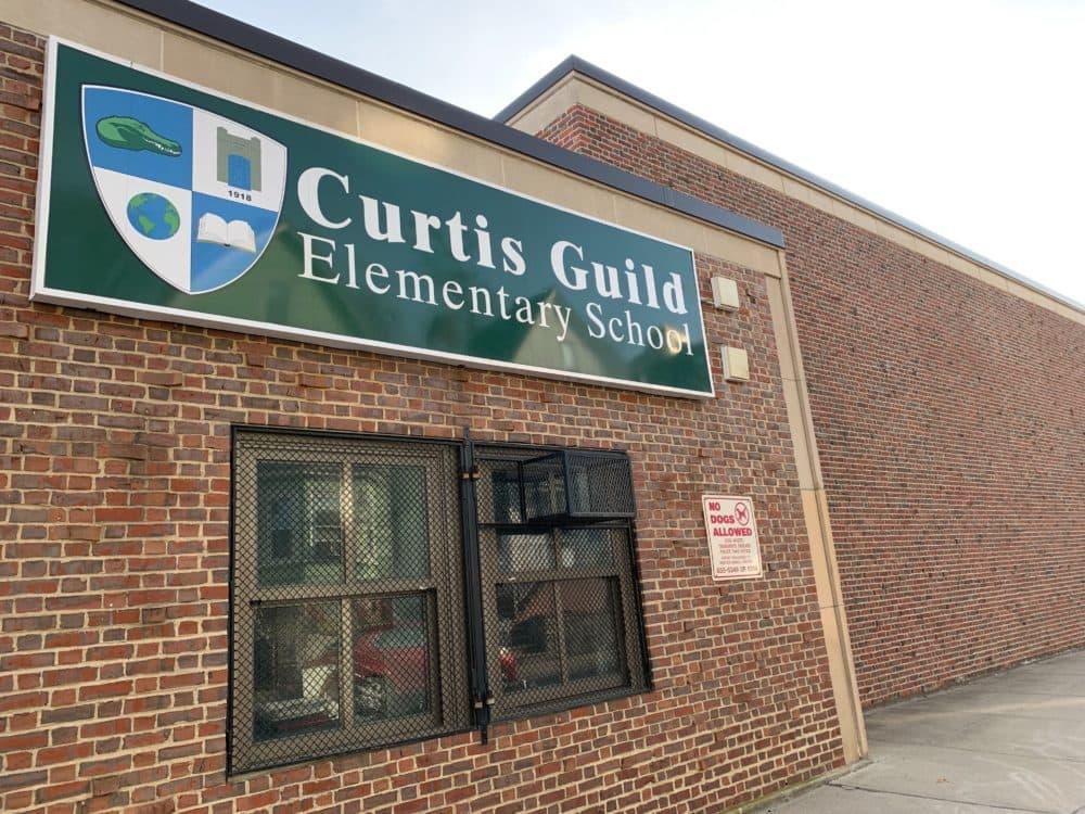 Curtis Guild Elementary School in East Boston. (WBUR/Carrie Jung)