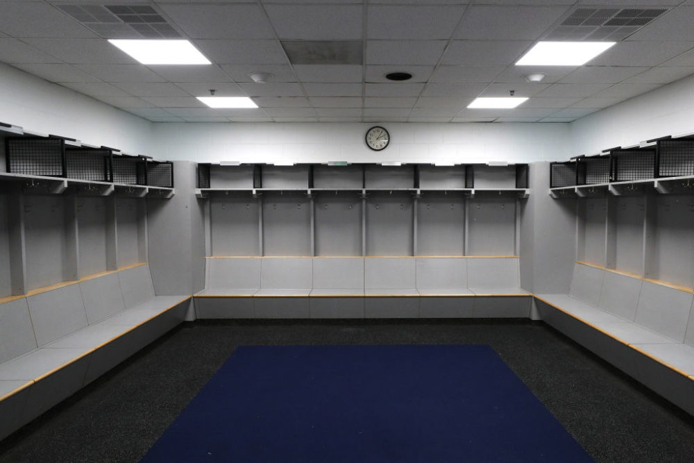 Locker rooms and arenas will be empty for the foreseeable future. (Patrick Smith/Getty Images)