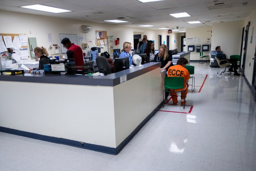 The medical infirmary at Essex County Jail & House of Correction in Middleton. (Jesse Costa/WBUR)