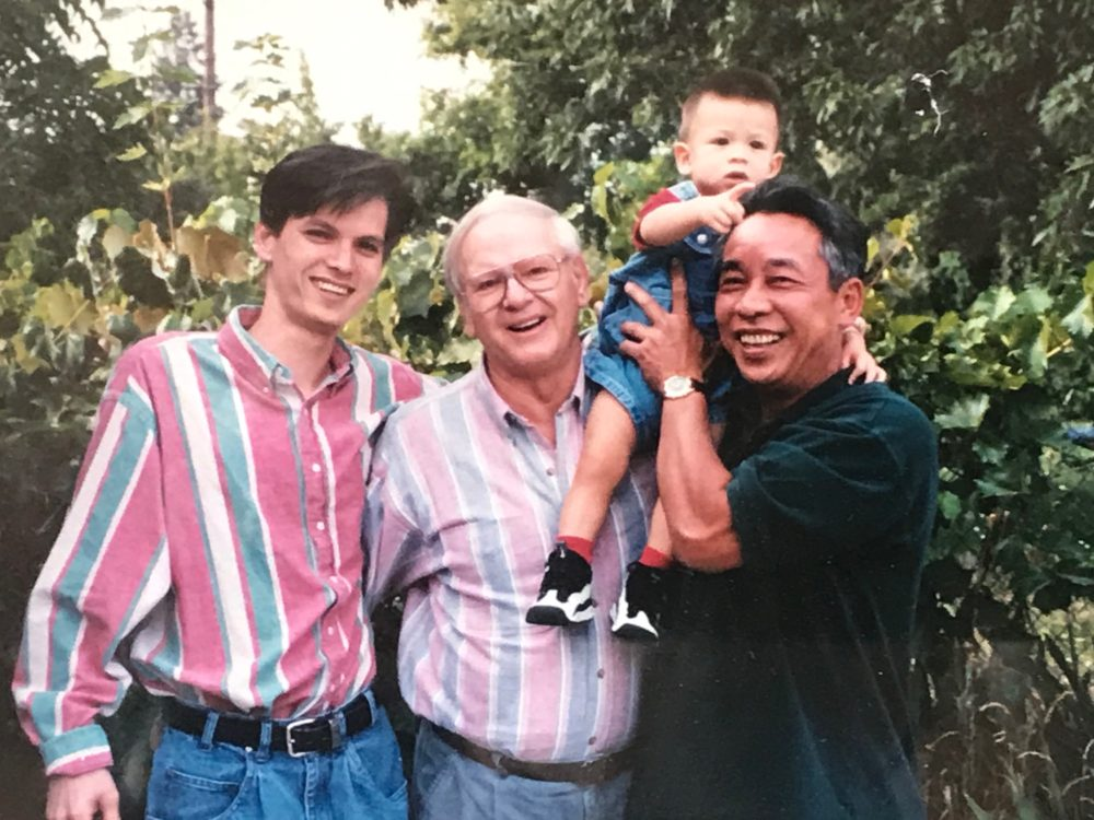 Jimmy Miller (right) with his father, James Miller (center), and father-in-law (right). (Courtesy Jimmy Miller)