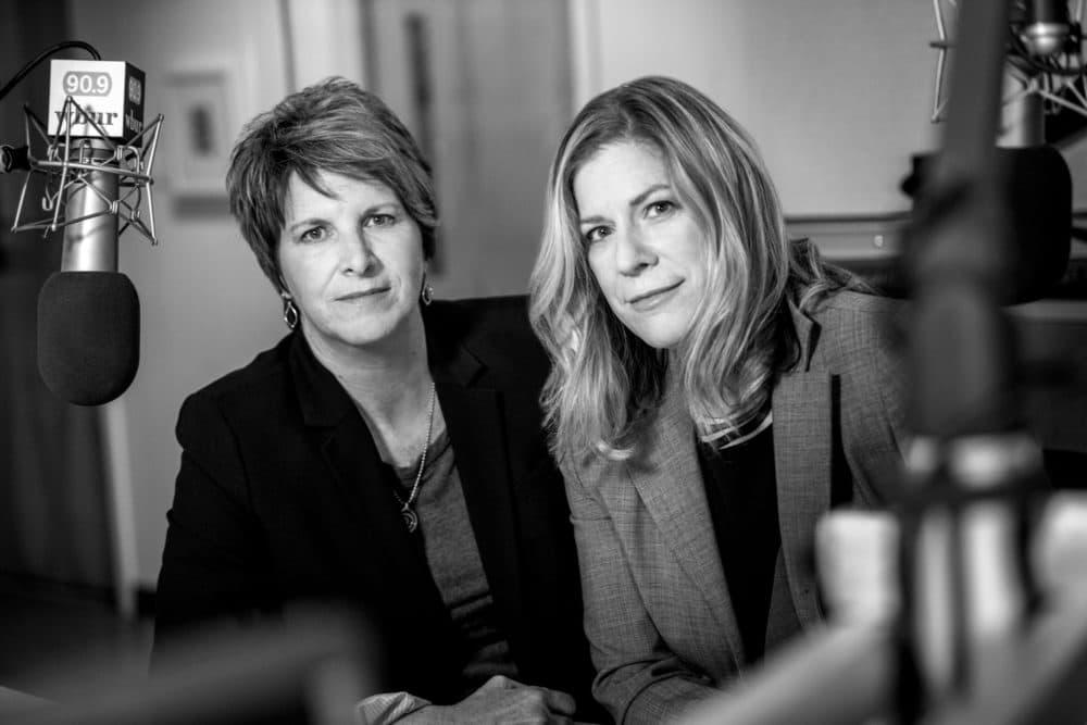 Beth Healy & Christine Willmsen of WBUR Investigations (Liz Linder/WBUR)