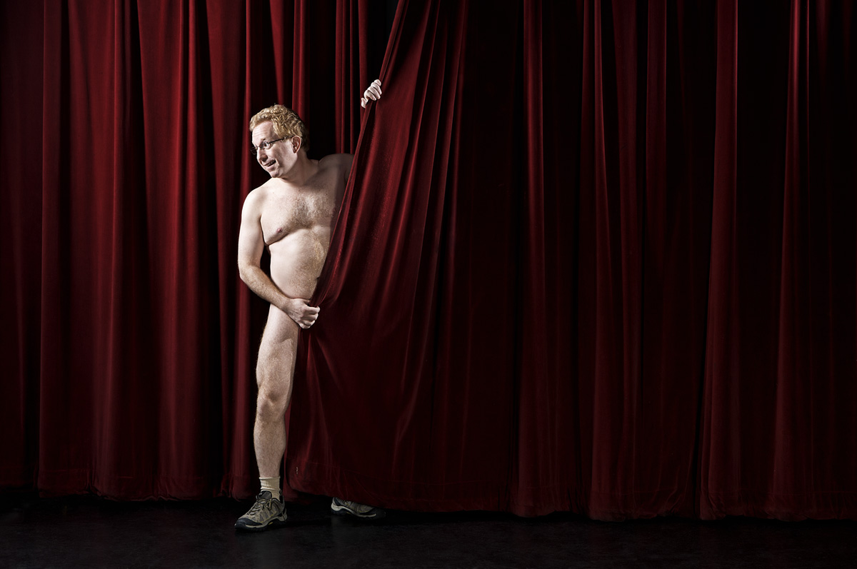 Comedian Andy Ofiesh hosts ImprovBoston's Naked Comedy Showcase. (Courtesy Roger Hagadone
