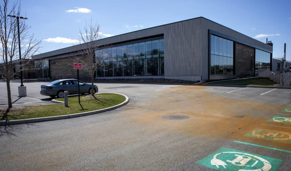 ElevateBio's building in Waltham, Mass. (Robin Lubbock/WBUR)