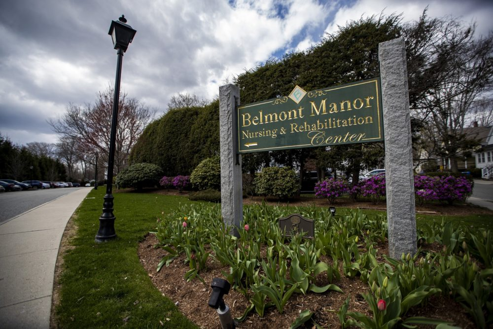 Belmont Manor Nursing and Rehabilitation Center in Belmont. (Jesse Costa/WBUR)