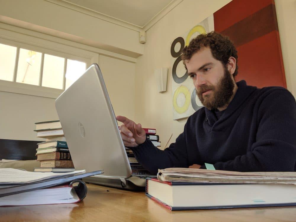 Harvard graduate teaching fellow Max Ehrenfreund at home in Oregon. (Courtesy)