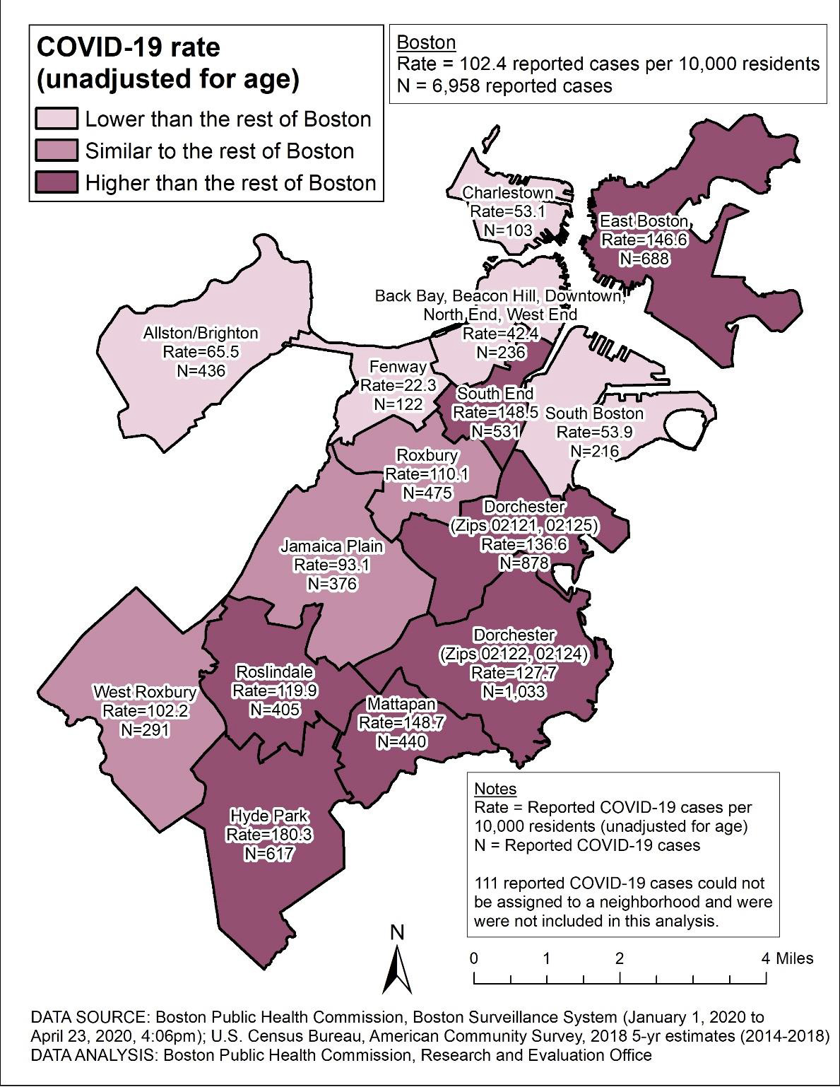 map of neighborhoods in boston Why Some Boston Neighborhoods Have Been Hit Harder By The Pandemic map of neighborhoods in boston