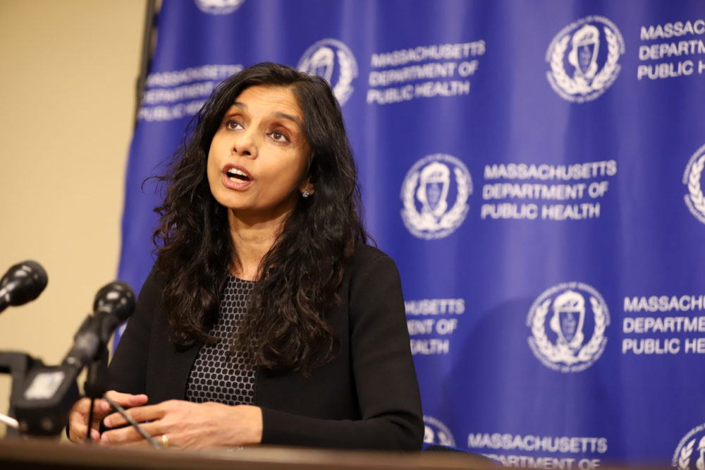 Dr. Monica Bharel in 2019. (Sam Doran/State House News Service)