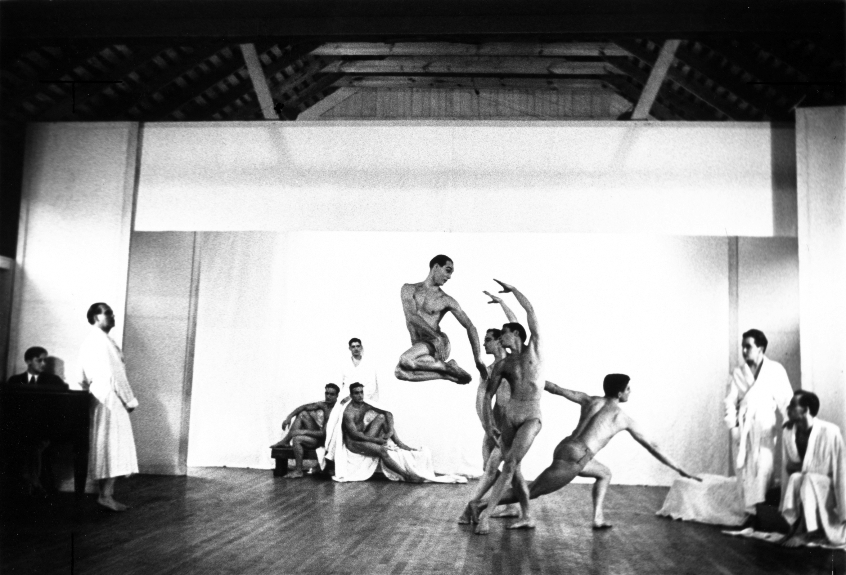 Dancers perform a piece by choreographer John Lindquist at Jacob's Pillow. (Courtesy Oxford University Press )