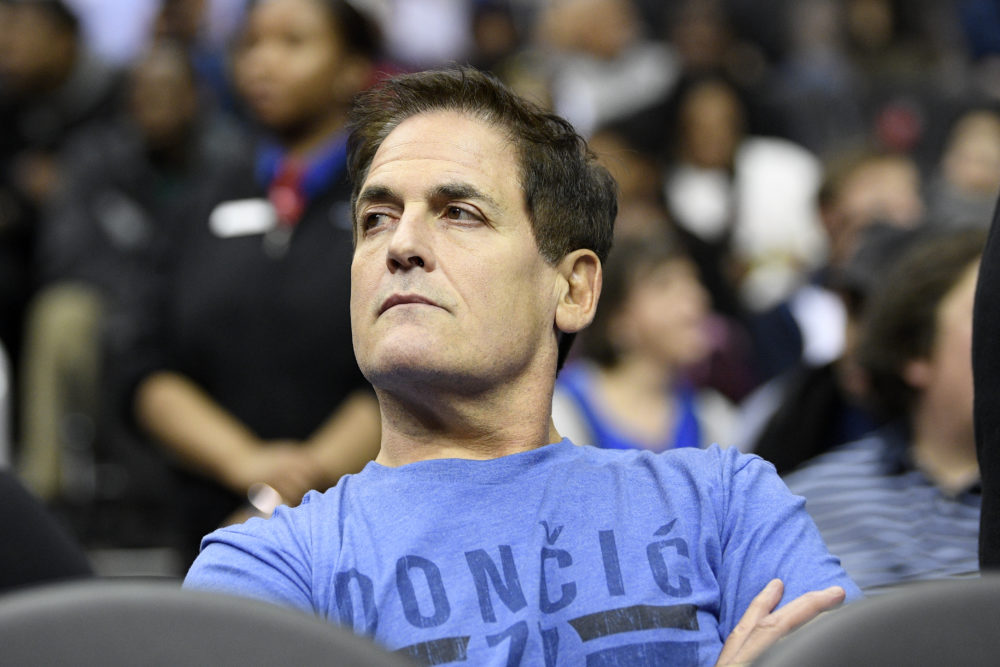 Dallas Mavericks owner Mark Cuban watches during the second half of an NBA basketball game between the Washington Wizards and the Dallas Mavericks, Wednesday, March 6, 2019, in Washington. (Nick Wass/AP)