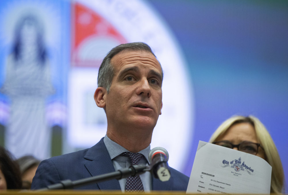 Los Angeles Mayor Eric Garcetti. (Damian Dovarganes/AP)