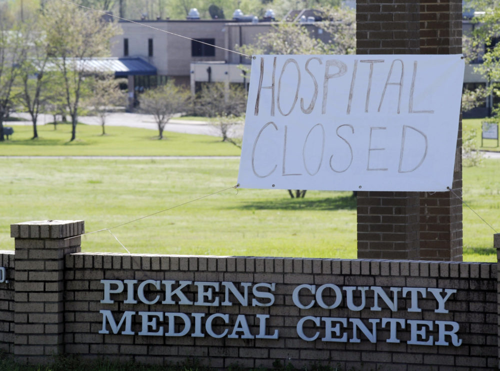 Pickens County Medical Center in Carrollton, Ala., is one of the latest health care facilities to fall victim to a wave of rural hospital shutdowns across the United States in recent years. (Jay Reeves/AP)
