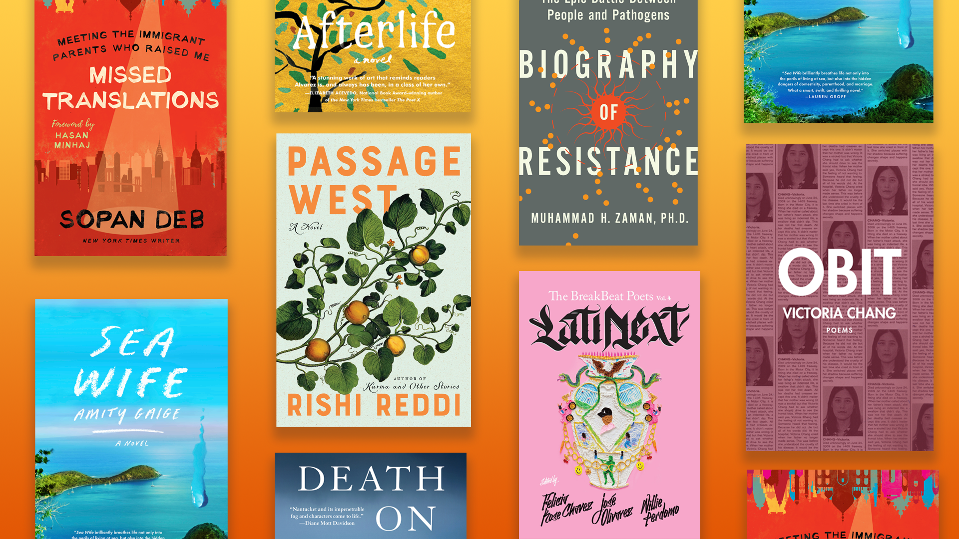 Eight spring reads by New England authors. (Arielle Gray/WBUR)