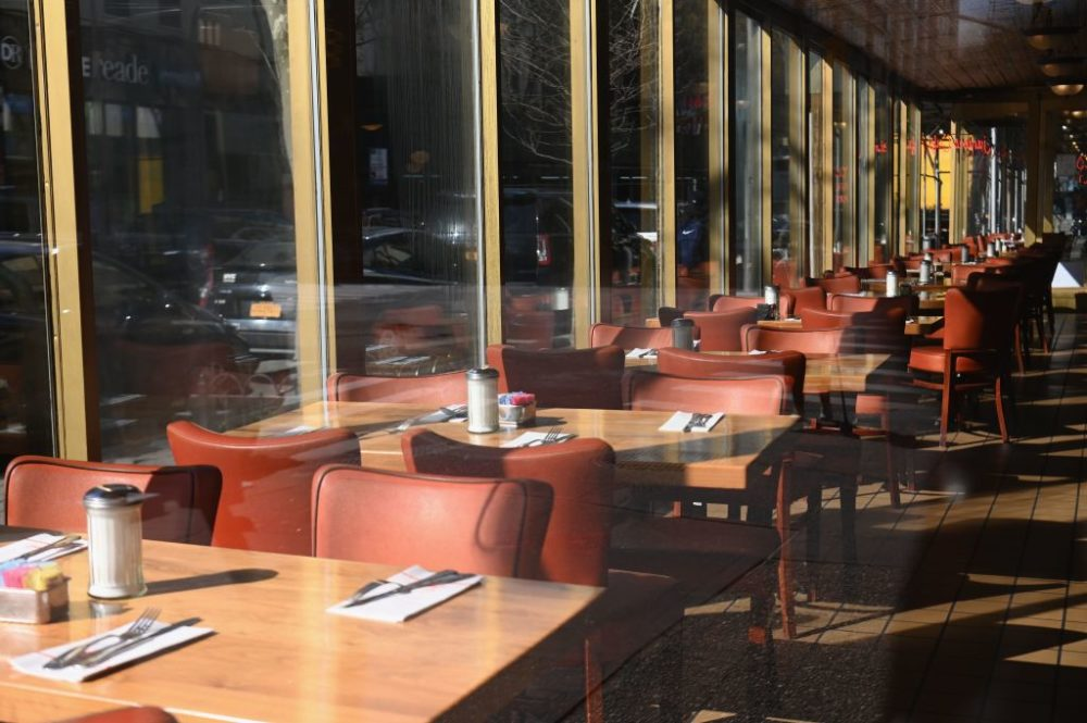 An empty restaurant in Brooklyn. (Angela Weiss/AFP/Getty Images)