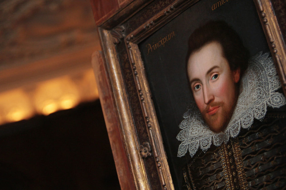 A portrait of William Shakespeare is pictured in London on March 9, 2009. (Leon Neal/AFP/Getty Images)