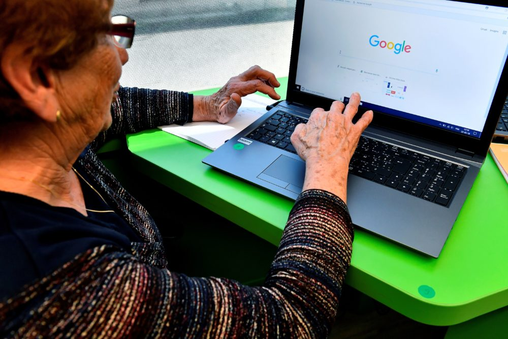 Everyone, especially senior citizens, should avoid going out in public. Things like banking and grocery shopping can be done online, but older people don't always embrace this kind of new technology easily. (Georges Gobet/AFP via Getty Images)