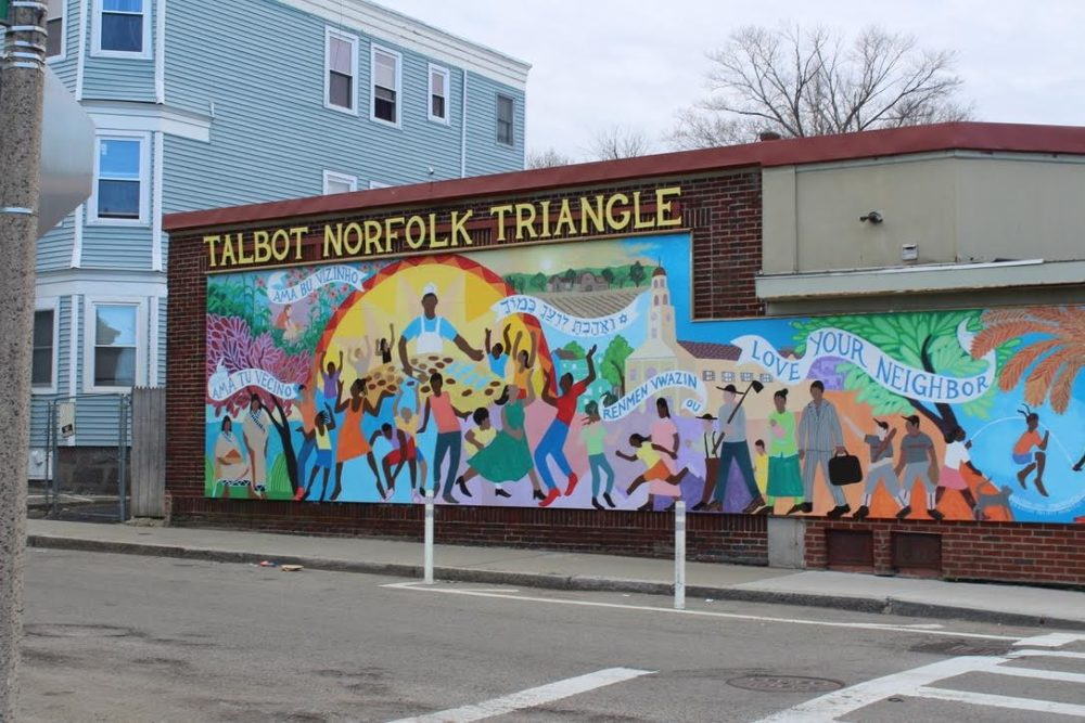 A mural in the Talbot Norfolk Triangle neighborhood of Dorchester in Boston's 4th District. (Caroline Kimball-Katz)