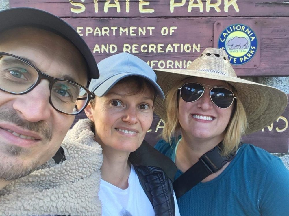 Jana Bounds (right) met Sabine Klein (center) and her husband Martin Wedl at Joshua Tree National Park. (Courtesy Jana Bounds)