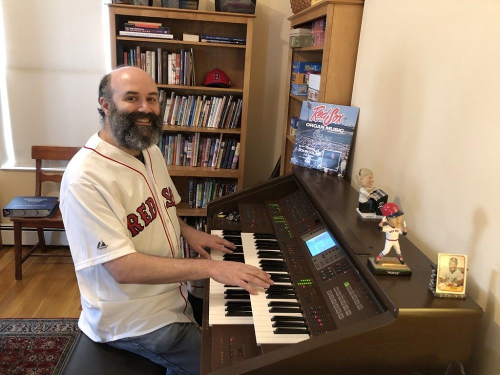 With baseball on hold, Boston Red Sox organist Josh Kantor has found a new place to perform: on Facebook. (Mary Eaton)