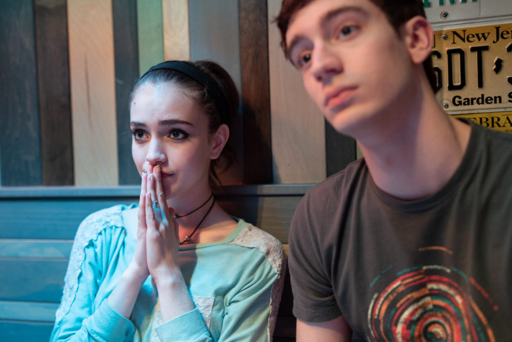 """Talia Ryder (left) as Skylar and Théodore Pellerin as Jasper in """"Never Rarely Sometimes Always."""" (Courtesy Angal Field / Focus Features)"""