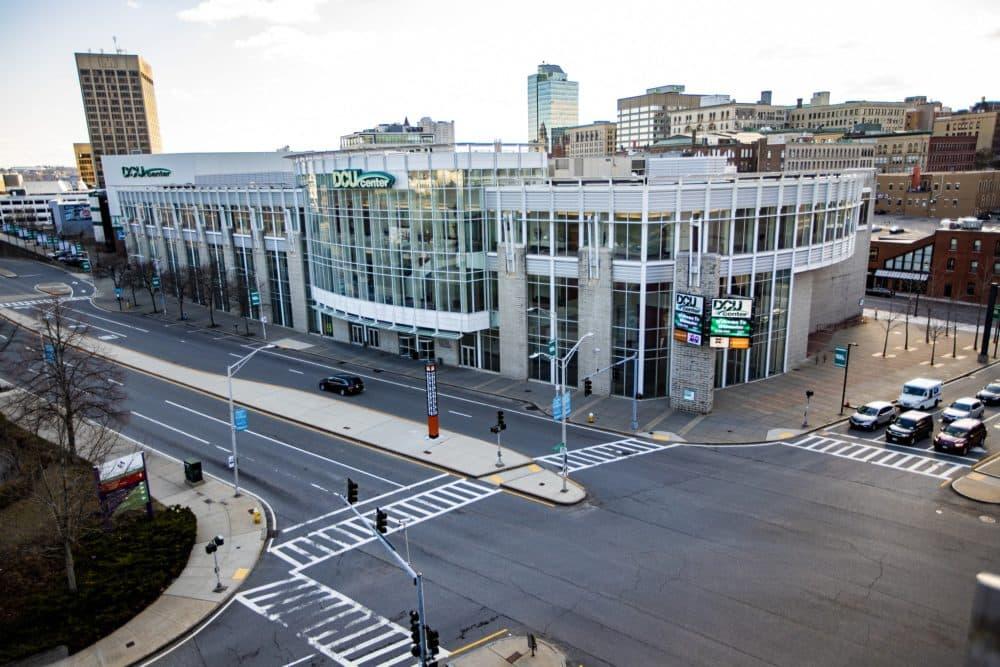 The DCU Center in Worcester. (Jesse Costa/WBUR)