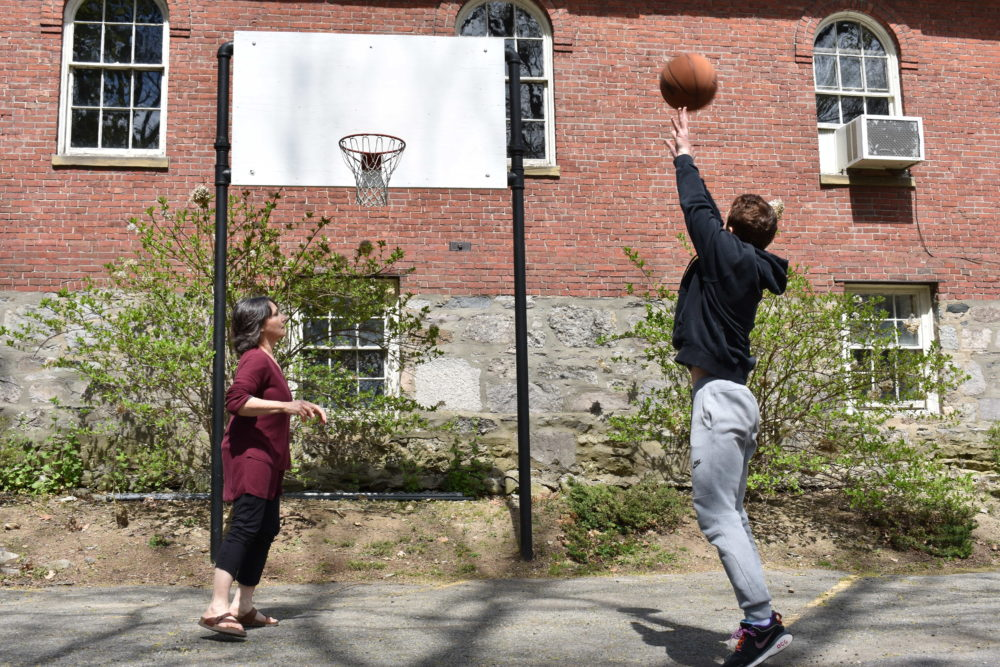 Reporter Judith Kogan and her son Matthew recently played a game of HORSE. (Judith Kogan)